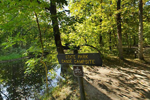 Photo of a campsites are part of the Mississippi River State Water Trail and are available for rental by those paddling down the river.