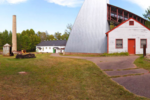 Photo of the historic site called Croft Mine, which offers a museum, simulated mine shaft, and authentic mining artifacts.