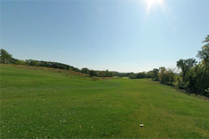 Photo of the ninth hole on the golf course fairway.