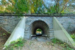 Photo of the Dakota Trail access tunnel.