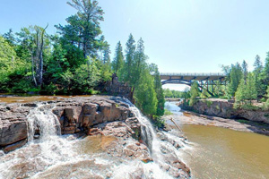 Photo of the Upper Falls at Gooseberry Falls State Park.