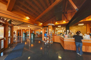Photo of the interior of the Visitor Center at Gooseberry Falls State Park.
