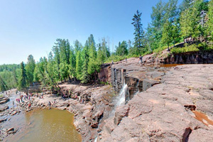 Photo from above Middle Falls at Gooseberry Falls State Park.