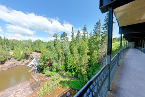 Photo from the Catwalk Bridge below Highway 61 at Gooseberry Falls State Park.