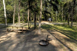 Photo of one of the campsites located within the park's campground.
