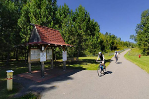 Photo of riders using the Mesabi Bike Trail.