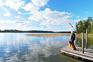Photo of the Lake Itasca boat dock and access.