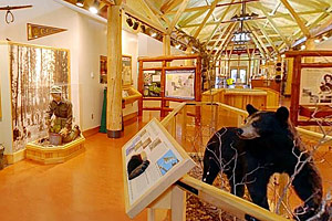 Photo of the interior of the Jacob V. Brower Visitor Center.