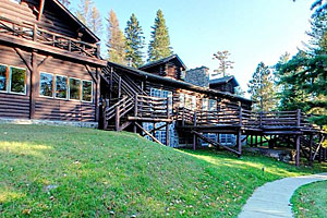 Photo of the grounds in front of the main lodge.