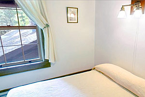 Photo of one of the air-conditioned guest rooms inside Douglas Lodge.