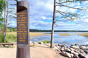 Photo of the Mississippi Headwaters monument.