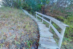 Photo of the Riverview Trail steps, constructed in the 1990s.