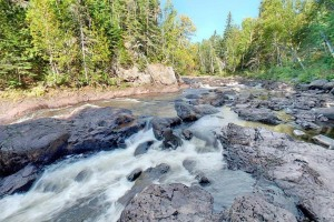 Photo of Brule River's whitewater rapids.
