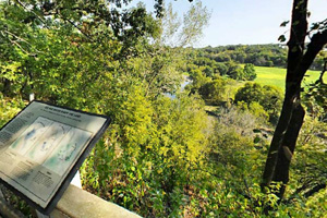 Photo of the Des Moines Overlook offering visitors excellent views of the southwestern Minnesota landscape.
