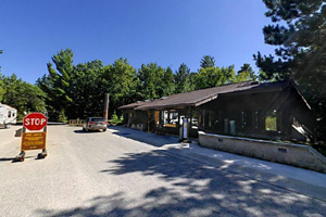 Photo of the visitor center, where visitors can browse the Nature Store inside or get more details about the park.