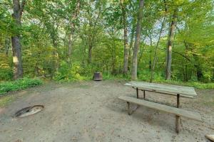 Photo of the hike-in campsite, B-12, located about a half mile away from the parking lot.