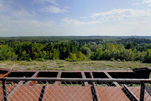 Photo of a view of landscape from the trestle.