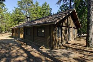 Photo of the picnic pavilion, located to the south of the main beach on a bluff above Sturgeon Lake.
