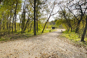 Photo of a paved trail along the Minnesota River.