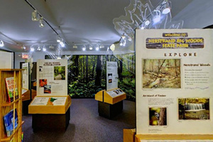 Photo of the park's visitor center exhibits and displays.