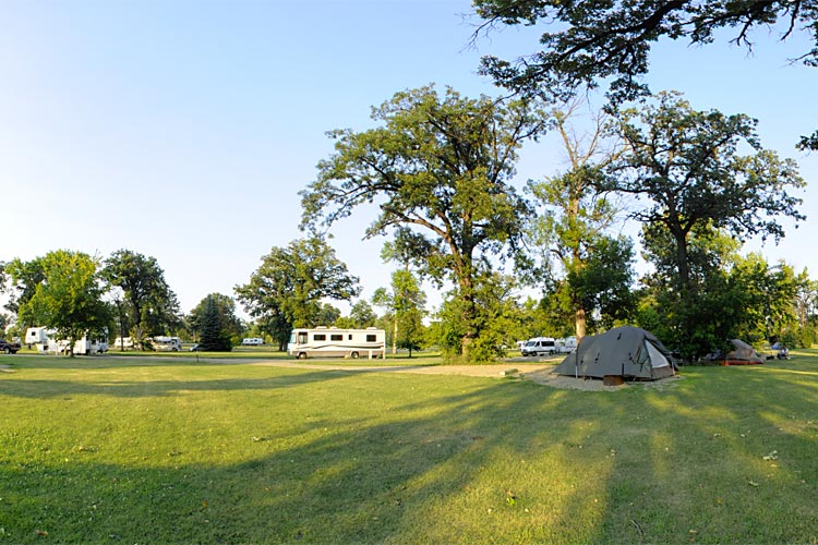 Photo of the Sherlock Park Campground, located within the Red River State Recreation Area.