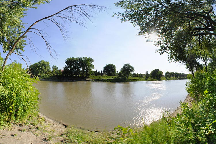Photo of a walk-in campground with a beautiful view of the Red River.