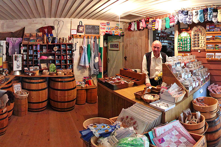 Photo of the interior of the Harkin Store State Historic Site's gift shop.