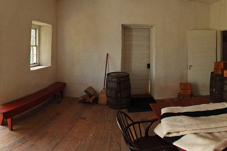 Photo of the warehouse, which also served as the office for the Agency Superintendent and Indian Agent.