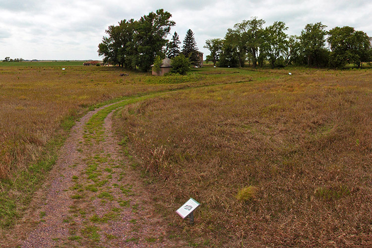 Photo of the landscape around the Lower Sioux Agency Prairie Trail.