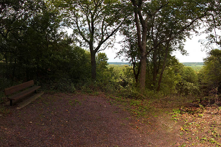 Photo of an overlook providing a beautiful view of the expansive Minnesota River Valley.