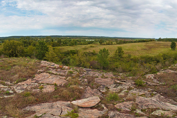 Photo of the perfect vantage point for great views of the Minnesota River Valley.
