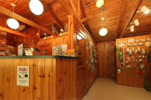 Photo of the interior of the park office and gift store.