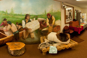 Photo of the interpretive exhibit inside the Visitor Center.