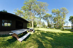 Photo of the picnic shelter and grounds.