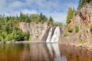 Photo of the 63 feet high, the High Falls of the Baptism River.