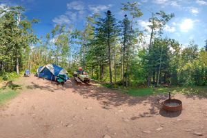 Photo of the drive-in campground offering secluded, well-screened sites that are available year-round.