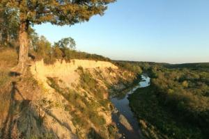 Photo of the view from Yellow Medicine River Cliff.
