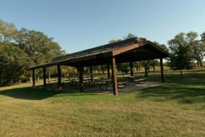 Photo of the picnic shelter, which has the capacity to accommodate up to 100 visitors.