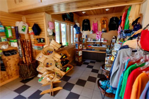 Photo of the interior of the gift shop at William O'Brien State Park.