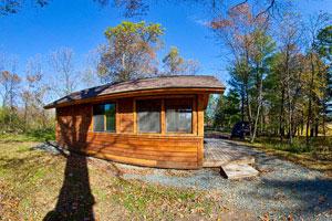 Photo of a camper cabin at William O'Brien State Park.