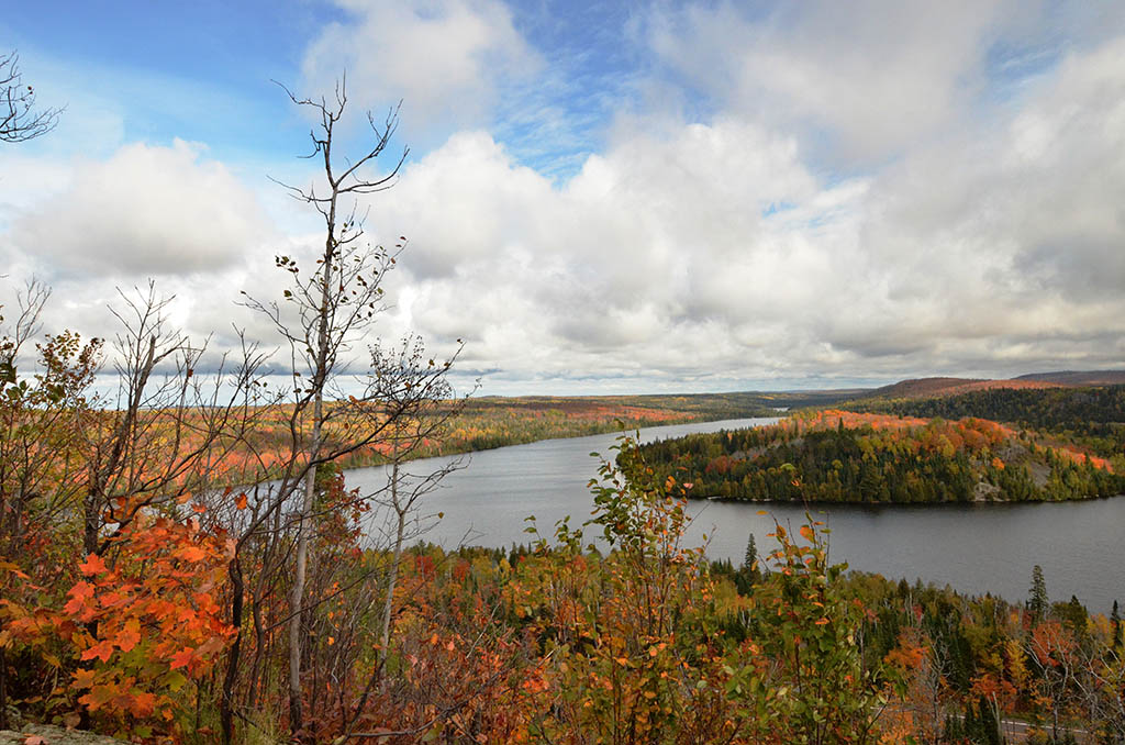 Photo of the view from the Caribou Falls State Wayside provided by Joseph Stumpf during fall color 2014.