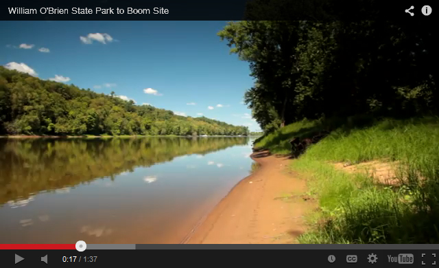 Video highlighting the St. Croix River next to William O'Brien State Park.