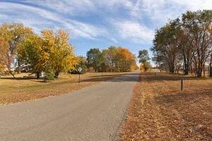 Photo of the the trail segment through Evansville, Minnesota.