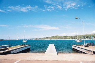 Grand Mariais has a protected public water access located in the city along the shore of Lake Superior.