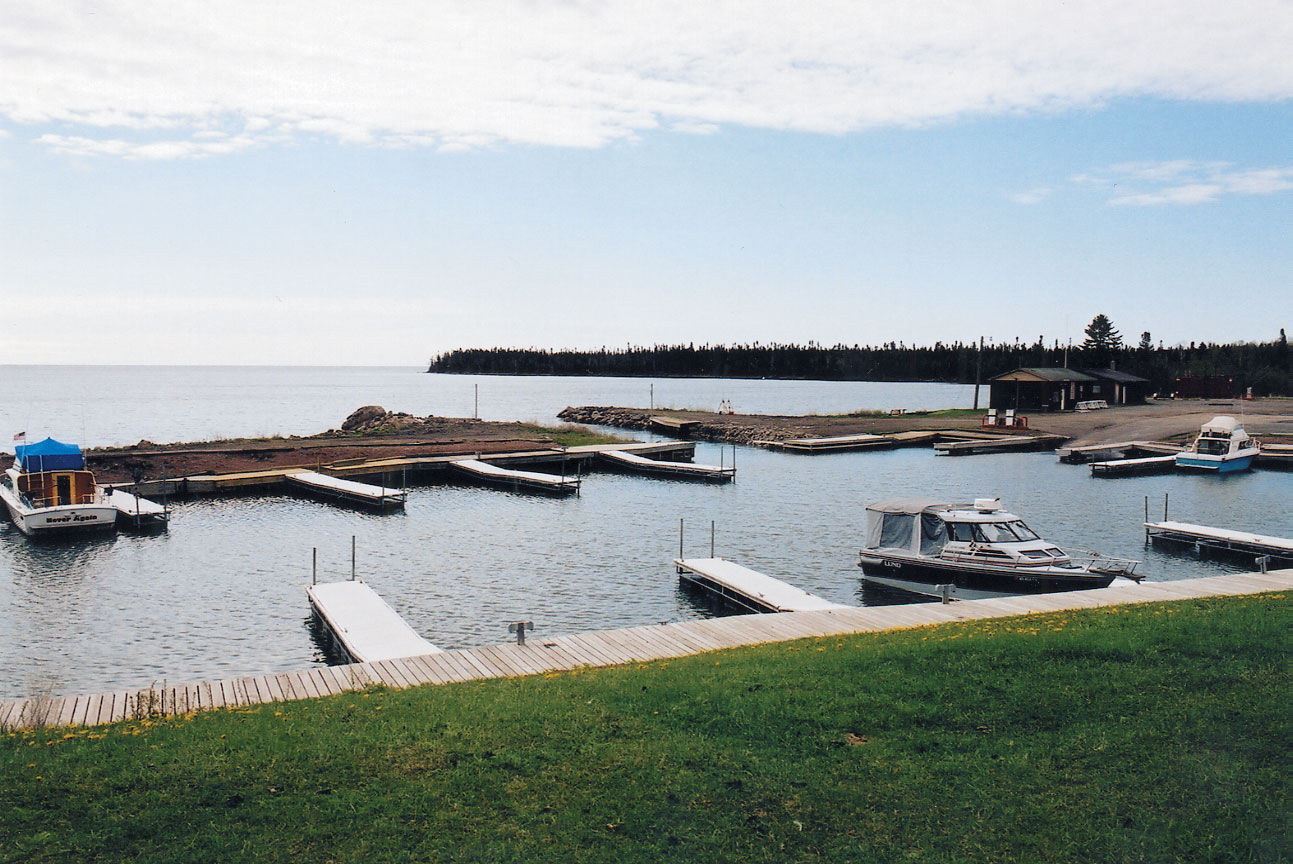 A protected public water access located in Grand Portage along the shore of Lake Superior.