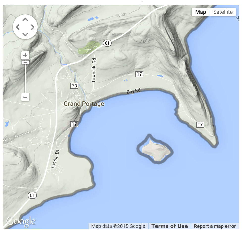 Grand Portage Marina location map