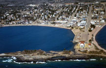 This DNR water access facility is located within the City of Grand Marais, in the commercial harbor.