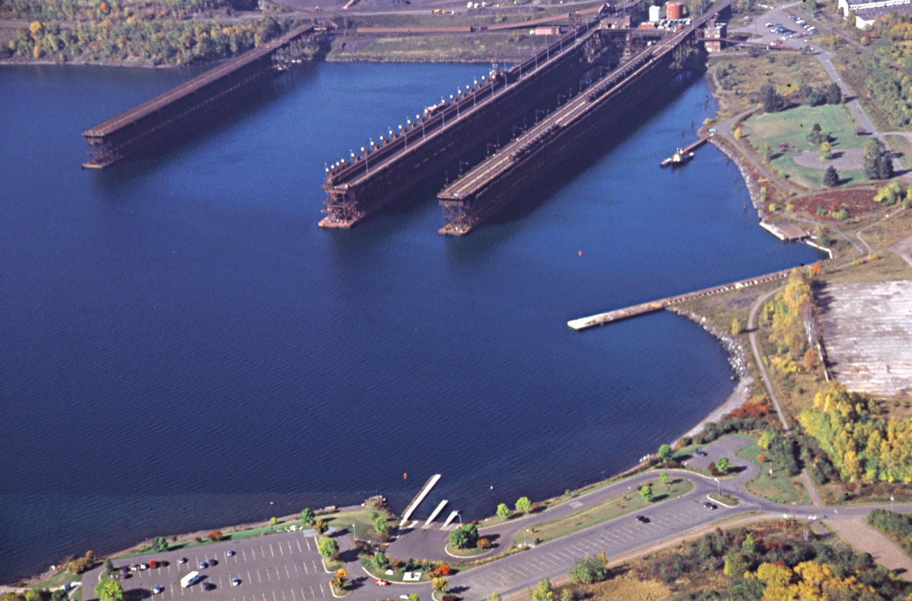 A view by air of Two Harbors Protected Access, which is operated by the Minnesota Department of Natural Resources and maintained by the city.