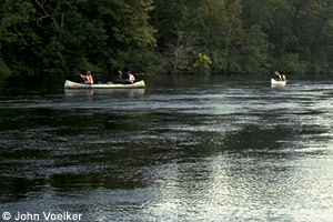 Crow Wing River canoers