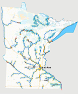 Link to interactive map for Lake Superior Water Trail.